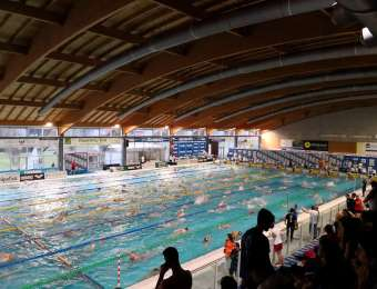 Stadio del nuoto di Riccione, sabato 17 febbraio 2018